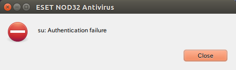 ESET_su_ Authentication _failure